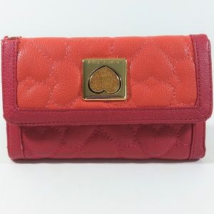 Betsey Johnson embroidered heart wallet